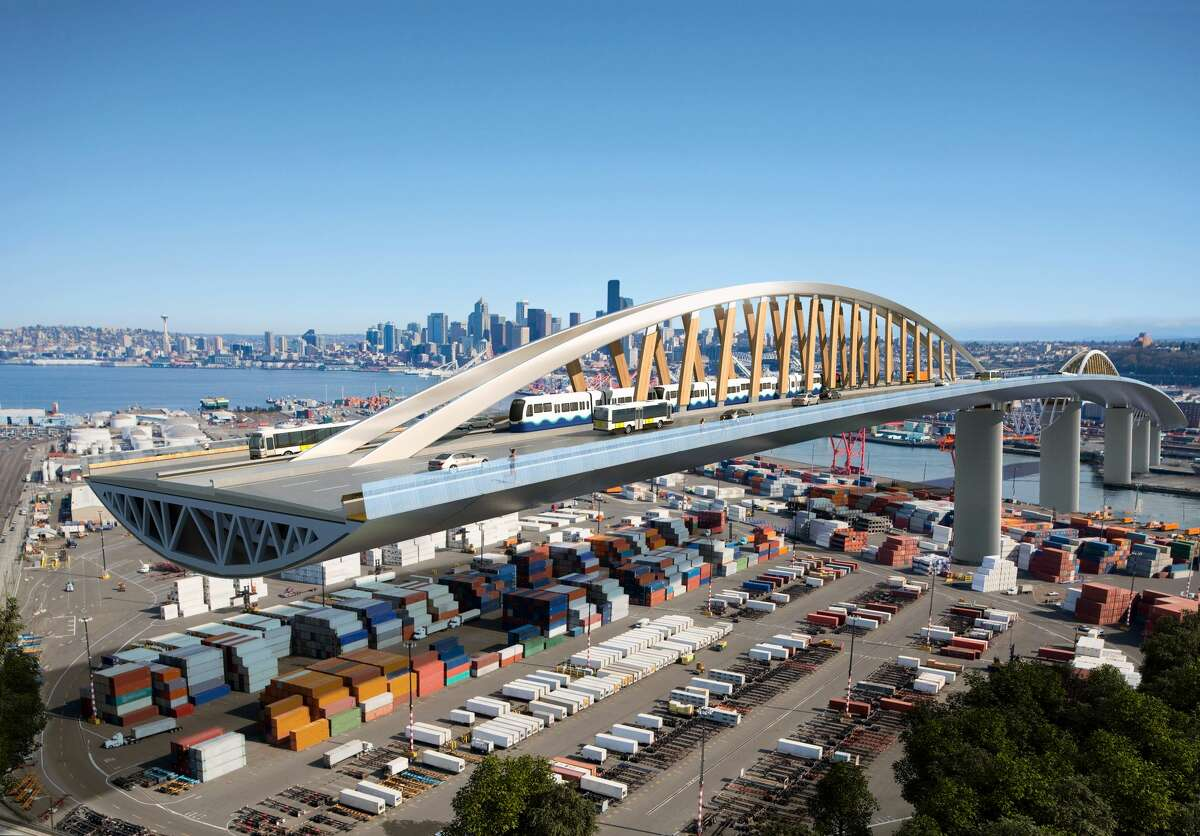 Is a wooden bridge in the future for West Seattle? One architecture group is proposing the idea as a more efficient alternative to traditional materials.