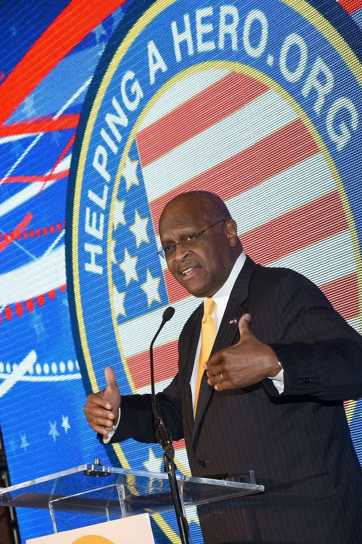 HOUSTON, TX - NOVEMBER 22: Patriot Award Recipient/Former Presidental canidate Herman Cain attends the 2015 Helping A Hero Gala on November 22, 2015 in Houston, Texas. (Photo by Rick Diamond/Getty Images for Helping A Hero)