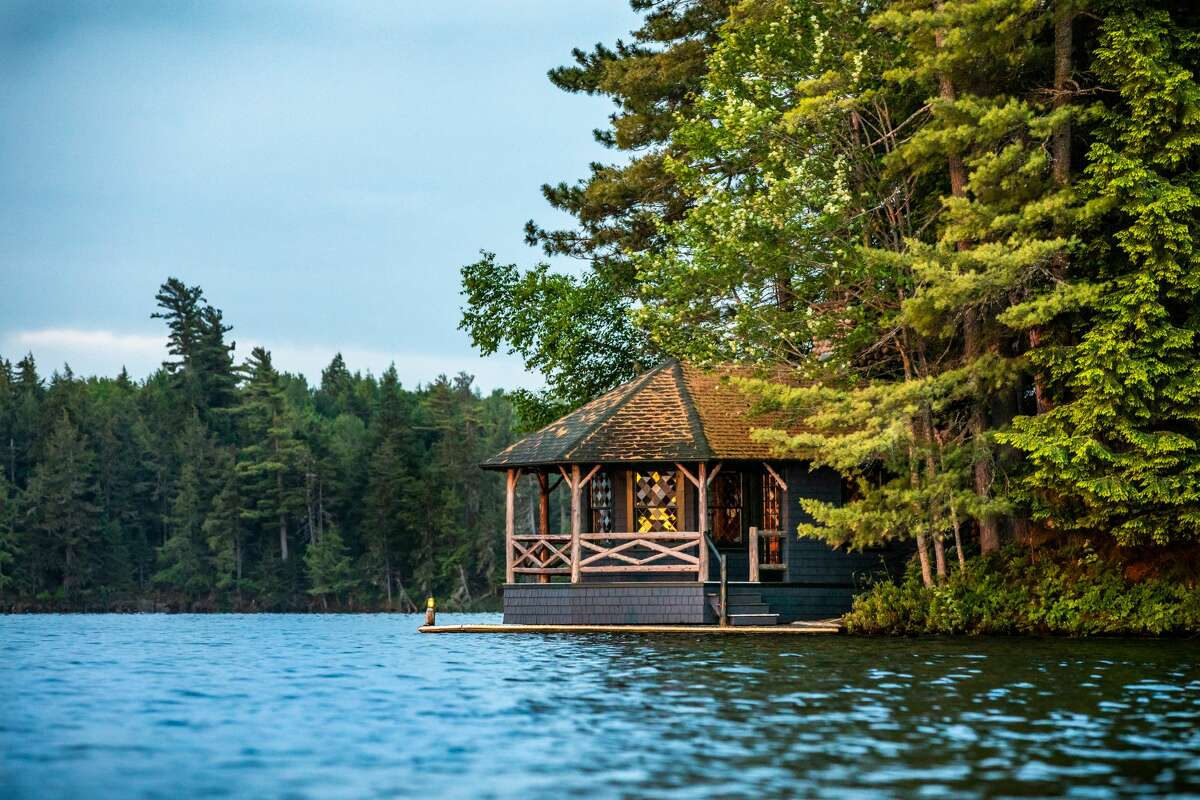 Camp Woodmere on the Upper St. Regis Lake, in Franklin County, will be auctioned off on Saturday.