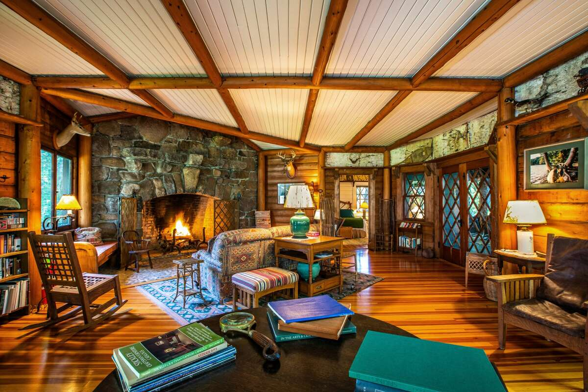 Rather than one grand structure, the living area at Camp Woodmere is spread throughout a series of cabins.