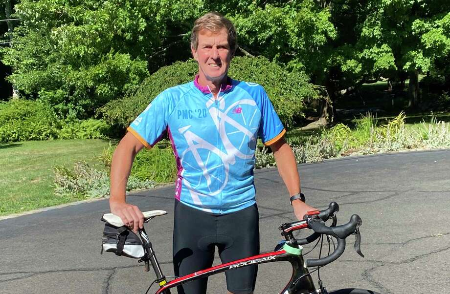 Tom Schneider competed for the seventh time in the Pan-Mass Challenge to raise money for the Dana-Farber Cancer Institute. Photo: Contributed Photo / Wilton Bulletin Contributed
