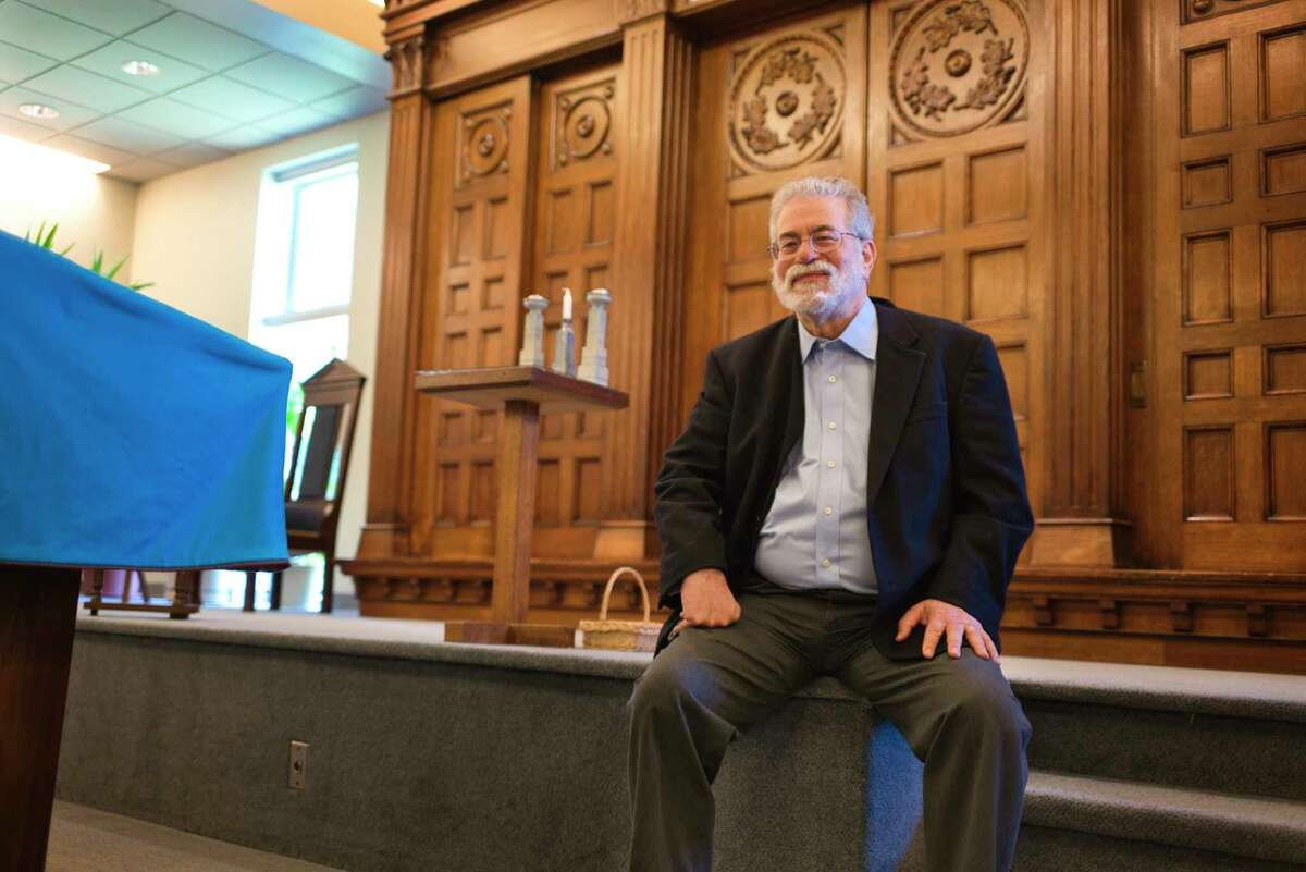 Rabbi Don Cashman poses for a photo at B'nai Sholom Reform synagogue on Wednesday, June 17, 2020, in Albany, N.Y. Rabbi Cashman is retiring after 35 years. (Paul Buckowski/Times Union)