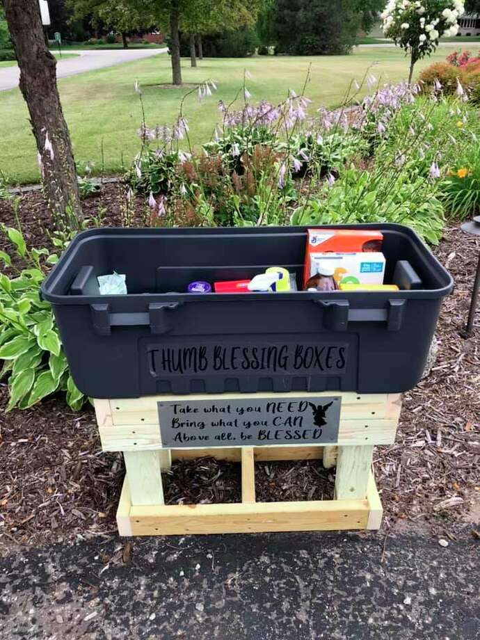 Thumb Blessing Boxes second location is now available at the Elkton Missionary Church by the memorial garden. (Thumb Blessing Boxes/Courtesy Photo)