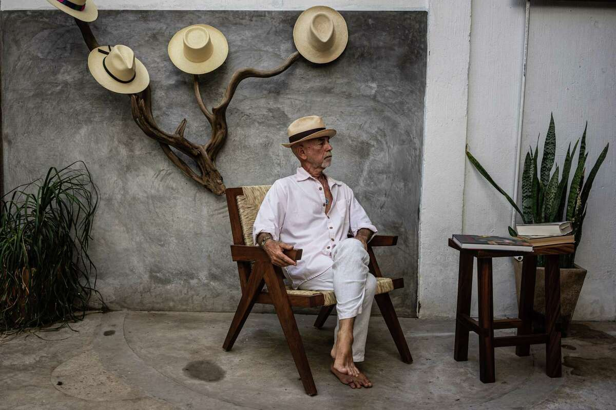 Fabrice Fourmanoir, an art dealer, poses for a portrait in Sayulita, Nayarit, Mexico, on June 15.