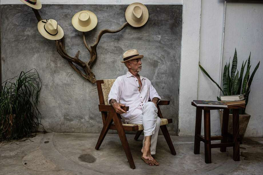 Fabrice Fourmanoir, an art dealer, poses for a portrait in Sayulita, Nayarit, Mexico, on June 15. Photo: Photo For The Washington Post By César Rodríguez / Cesar Rodriguez