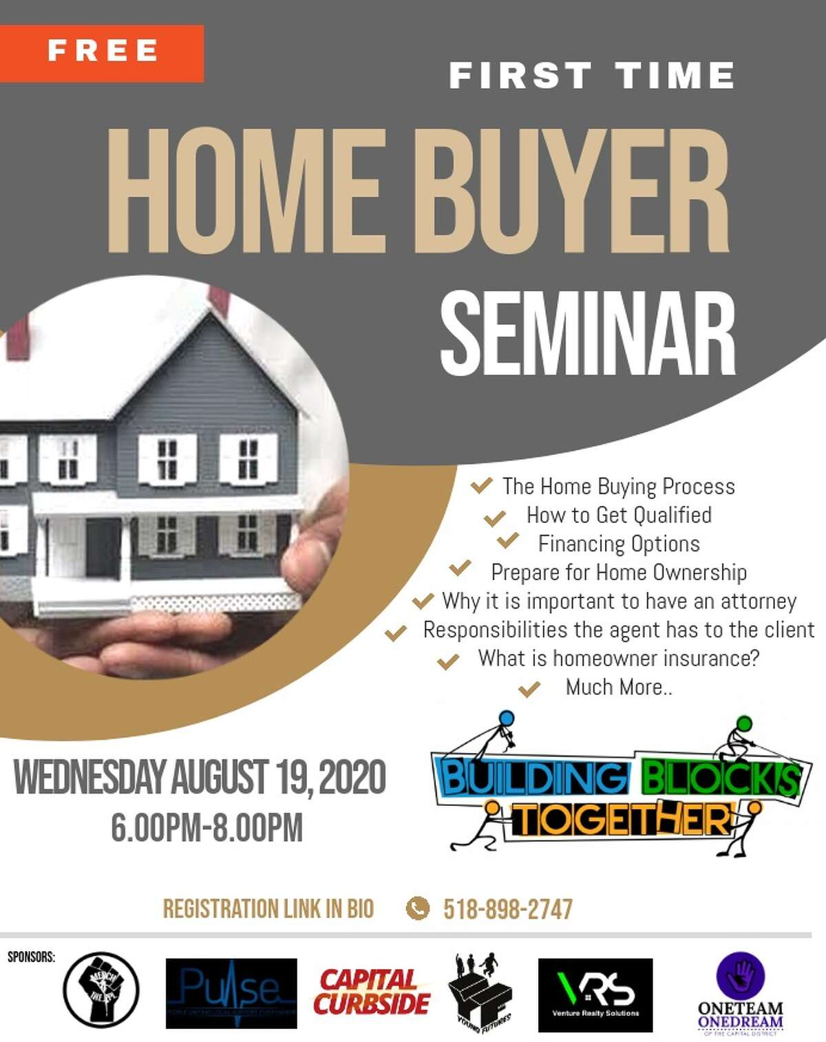 Virginia Rawlins of Building Blocks Together will host an Aug. 19 seminar for those looking to buy their first house.