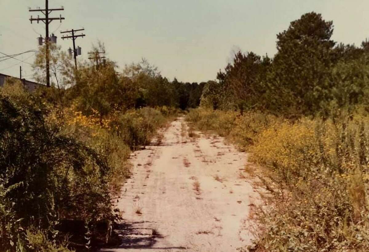 The entrance to the Hi-Y Drive-In on South Frazier in Conroe. This photo was taken by Holly York in 1980.