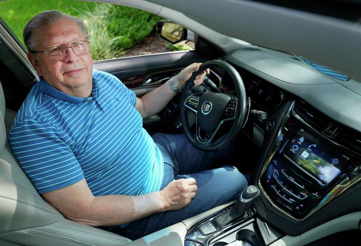 Herman Storey shown in his 2014 Cadillac CTS Wednesday, July 29, 2020, in Kingwood. It uses GM's OnStar service, which he likes, but it's going away in 2022 because AT&T will turn off its 3G data network.