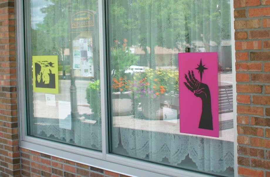 Displayed down in the windows of downtown Big Rapids businesses are decals paying tribute to Harriet Tubman. This is part of a project collaborated with Artworks, Ferris State University ARTS 101 and Ferris Fine Arts Gallery. (Pioneer photos/Cathie Crew)
