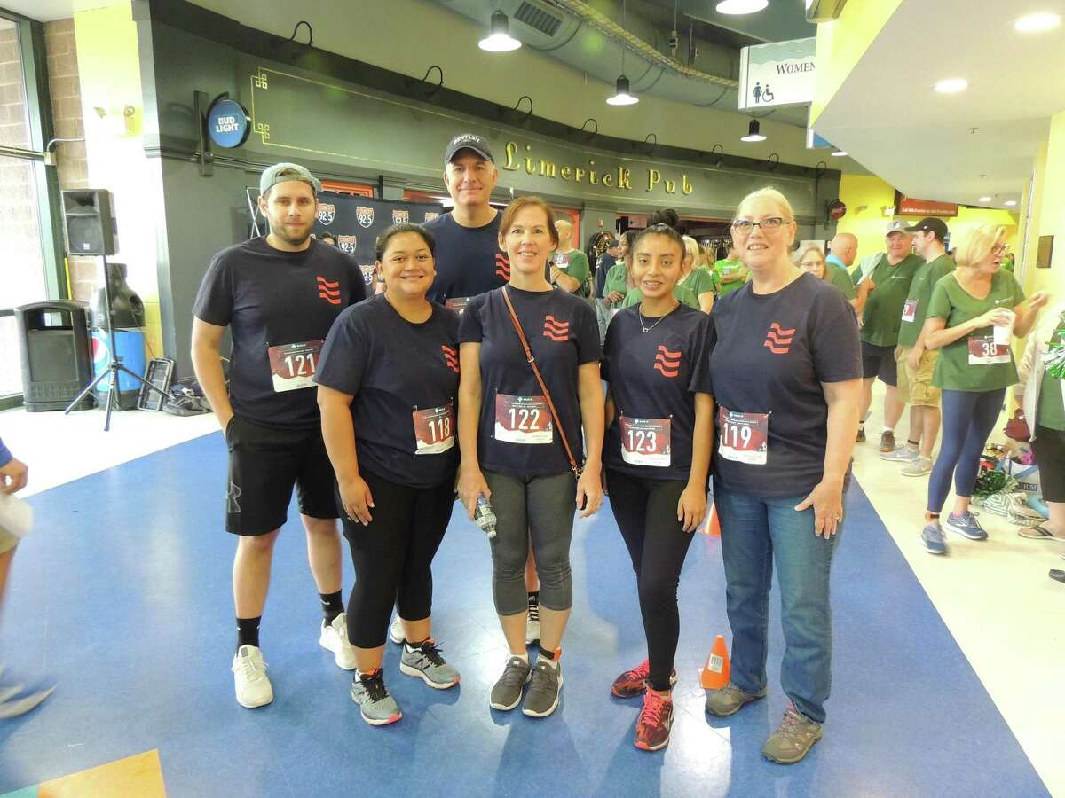 Newtown Savings Bank, pictured at the 2019 event, can break up the 40,000 steps among their team members.