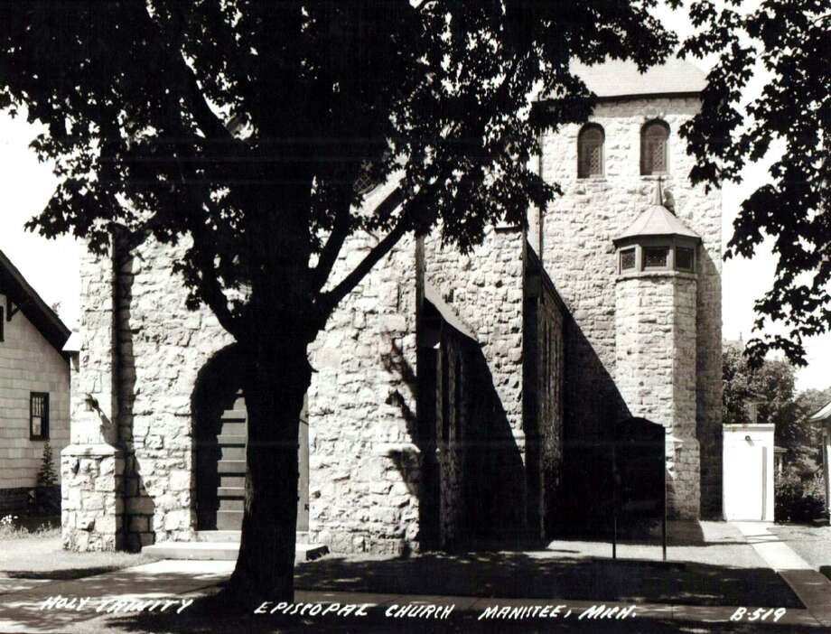 An exterior view of Holy Trinity Episcopal Church circa 1950s. (Manistee County Historical Museum/Courtesy photo)