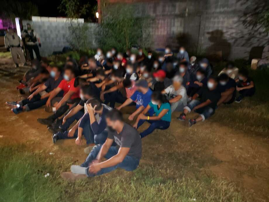 U.S. Border Patrol agents with the assistance of county and state authorities encountered more than 50 people who were in the country illegally inside a stash house in south Laredo. Photo: Courtesy