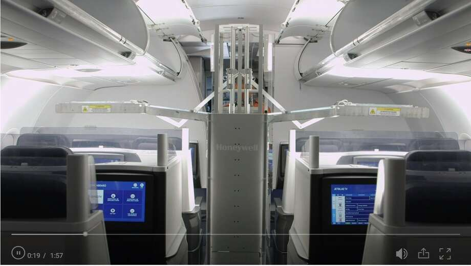 JetBlue becomes first airline in the country to use advanced technology in its cleaning efforts to fight off COVID-19 Photo: Screenshot NBC New York Website
