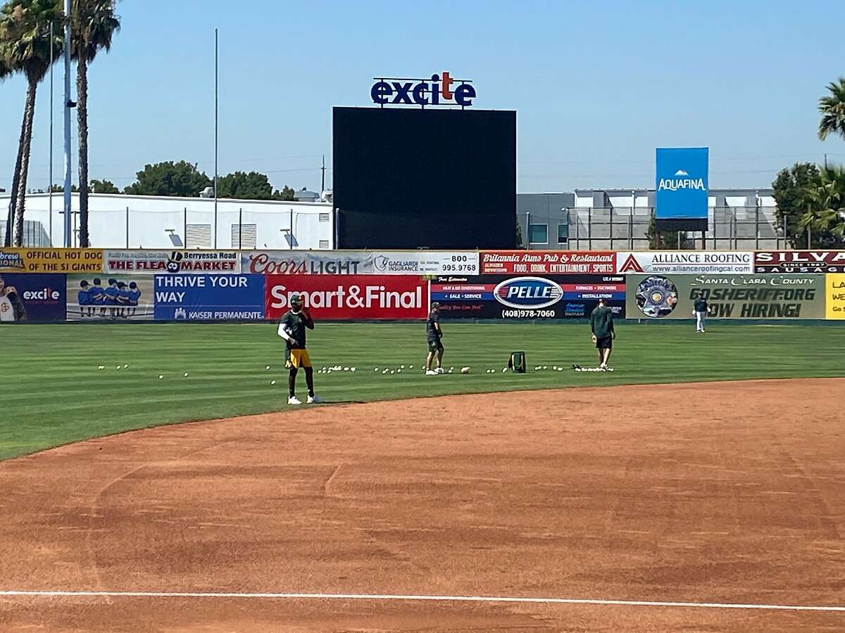 The A's are using San Jose's Municipal Stadium as their alternate site for pool players and top minor-leaguers.