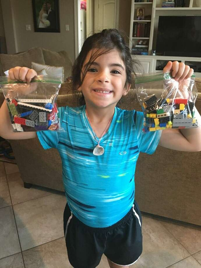 Rachelle Khalaf and her children's love for Lego blocks inspired the family to come together during the pandemic to build a wheelchair ramp made from Legos for her husband diagnosed with Multiple Sclerosis. Photo: Courtesy Of Rachelle Khalaf