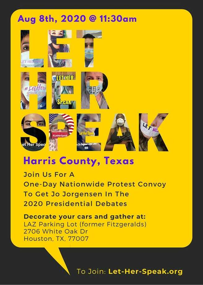 Harris County Libertarian Party is making their voice heard with #letherspeak protest