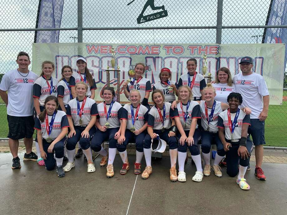 The Texas 12 Gauge 14U softball team from Willis was the only Texas squad to qualify for the USSSA Nationals, held last week in Gulf Shores, Ala. The team finished third out of 17 teams and held off elimination until a loss to the team that ultimately won the championship. Photo: Submitted
