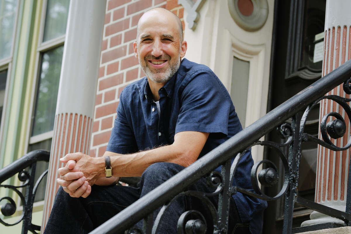 Ed Schwarzschild outside his home on Tuesday, July 28, 2020, in Albany, N.Y. (Paul Buckowski/Times Union)
