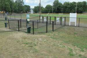 Torrington's new dog park at the John Toro Sports Complex fields on Perkins Street opens Aug. 10.