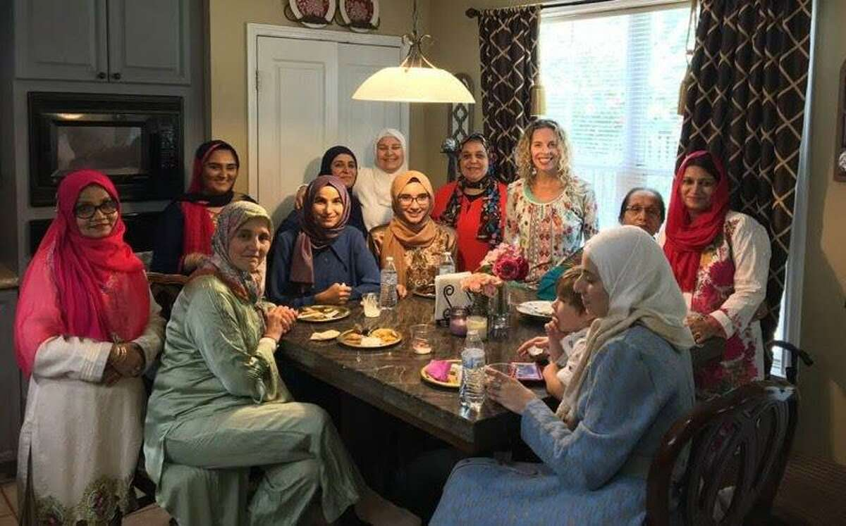 Members of The Woodlands Islamic Center celebrate Eid al-Adha in 2018. This year the celebrating will be very different as members of the congregation practice social distancing due to COVID-19.