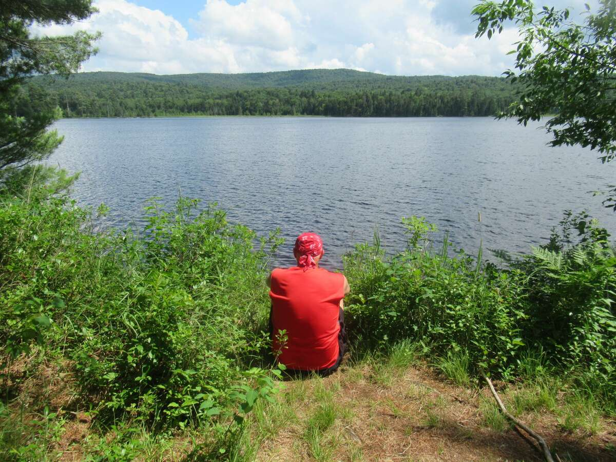 A lodge used to grace the shore of Beaver Lake in the Moose River Plains. Now it's a quiet place to sit and think about how much you don't like camping. (Herb Terns / Times Union)