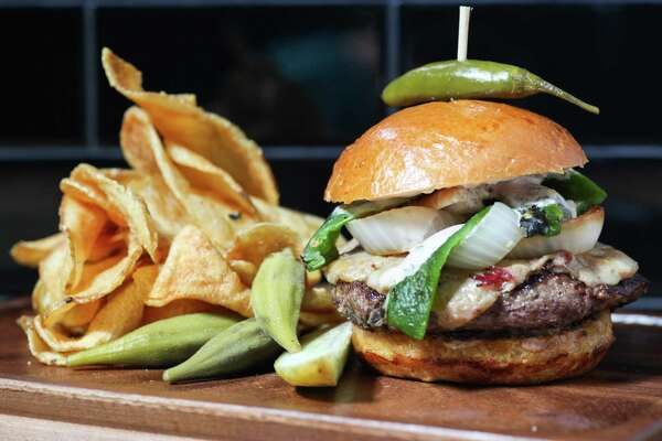 The Rustic Burger on the menu for Houston Restaurant Weeks at both Rustic locations in downtown and Uptown Park.
