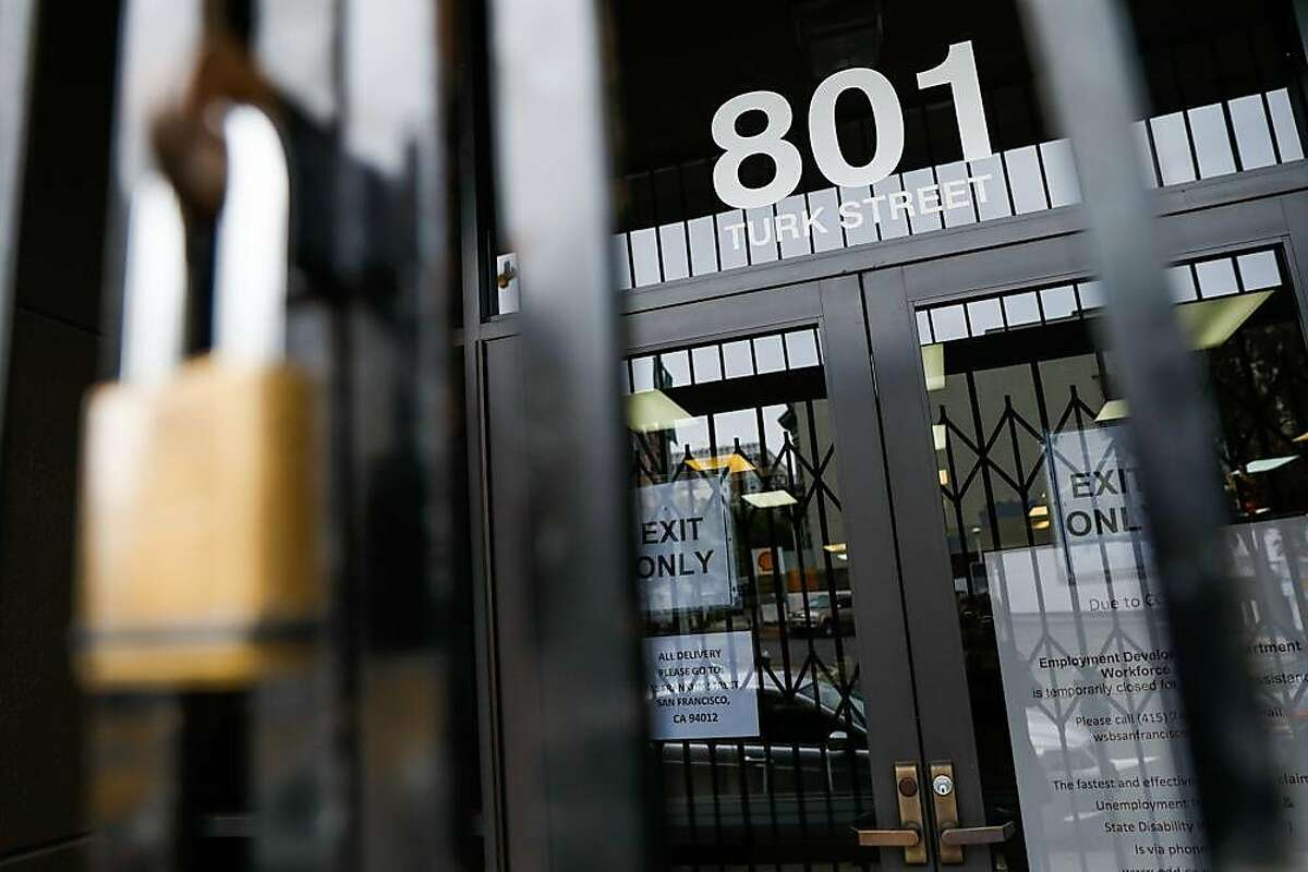 The Employment Development Department office is seen closed due to Covid-19 on Monday, June 15, 2020 in San Francisco, California.