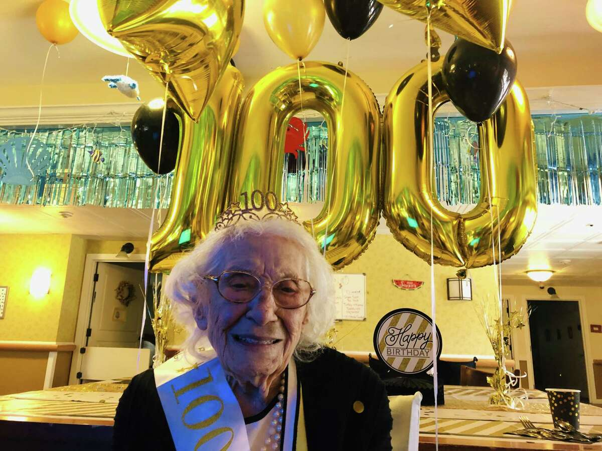 Anne Signoracci was born In Amsterdam on July 26, 1920. She moved to Cohoes when she married Ralph Signoracci and they raised their three sons there. She relocated to Apollo Beach, Florida for a time but returned to New York after being widowed to be closer to family. She currently resides at Eddy Village Green in Cohoes, where the staff decorated the house for the occasion and the family offered her birthday wishes via Zoom on a large screen. (Azra Haqqie / Times Union)