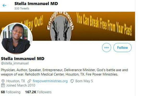 Texas Medical Board Takes Warning Shot At Dr Stella Immanuel Others Touting Covid Cure Houstonchronicle Com