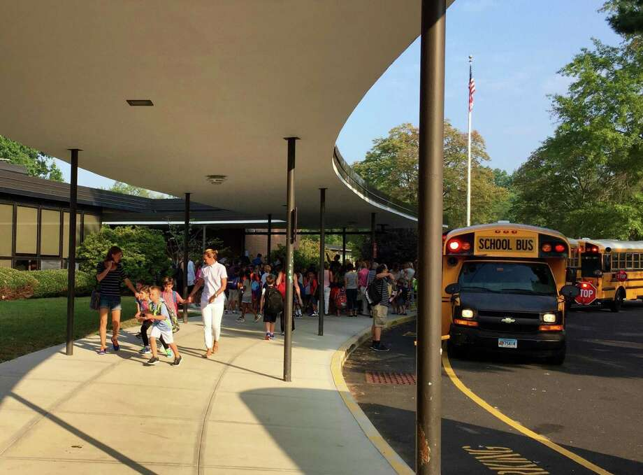 Students during the first day of school at North Street School in Greenwich, Conn. Wednesday, Sept. 2, 2015. Photo: File / Contributed Photo / Contributed Photo / Greenwich Time Contributed Photo