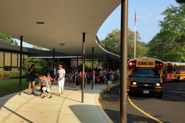 Students during the first day of school at North Street School in Greenwich, Conn. Wednesday, Sept. 2, 2015.