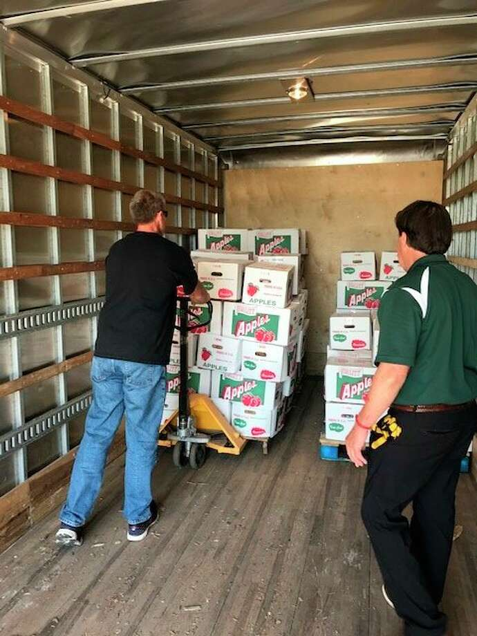Currently lots of fresh produce is being donated to the Bridge which is passed directly to its customers. (Photo provided)