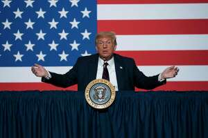 President Donald Trump speaks during a roundtable meeting on blood plasma donation at the American Red Cross National Headquarters, Thursday, July 30, 2020, in Washington. (AP Photo/Evan Vucci)