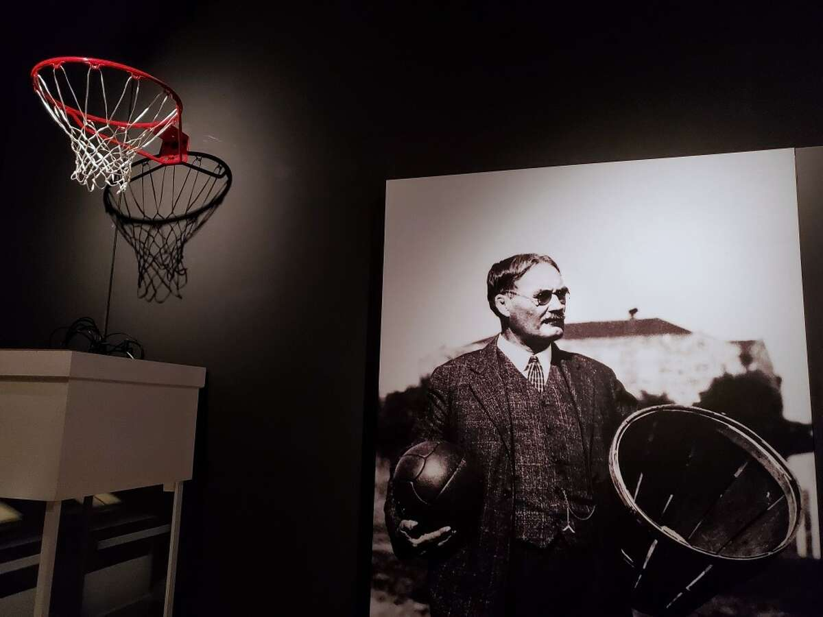PHOTOS: A look at the basketball exhibit The Houston Museum of Natural Science is featuring The First Game: The Birth of Basketball exhibit which includes James Naismith's original rules of basketball from 1892.