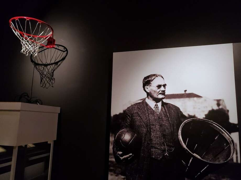 PHOTOS: A look at the basketball exhibit The Houston Museum of Natural Science is featuring The First Game: The Birth of Basketball exhibit which includes James Naismith's original rules of basketball from 1892. Photo: Houston Museum Of Natural Science