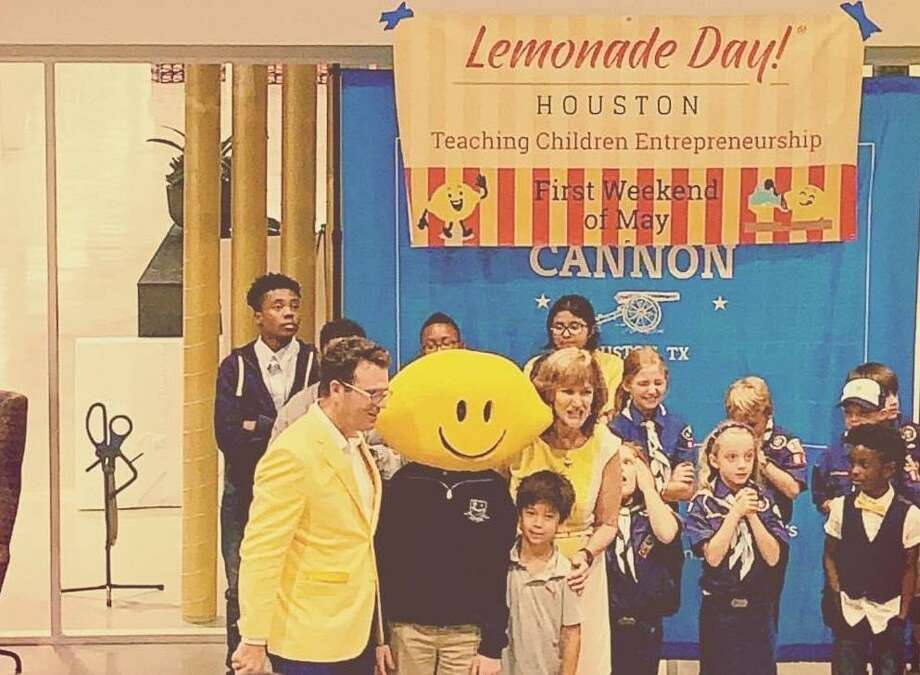 Young Charlie Lerette poses after his third place finish at the Lemonade Day event in Houston in 2019. He gave a successful pitch for his lemonade business to a panel of judges and has held a few lemonade stands since then, all while earning money, learning and having fun. Photo: Courtesy Of Leia Yin