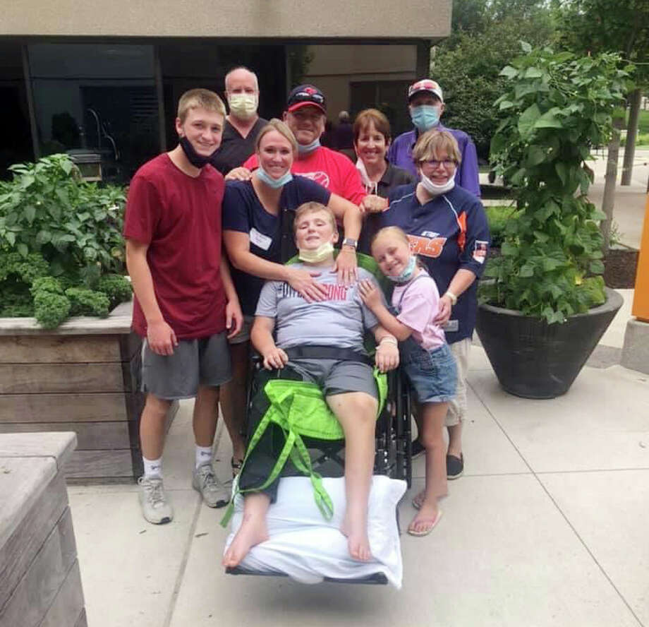 The Strickler family has been right by Owen Strickler's side for virtually every minute since July 7. Photo: Photo Courtesy Of Andi Strickler