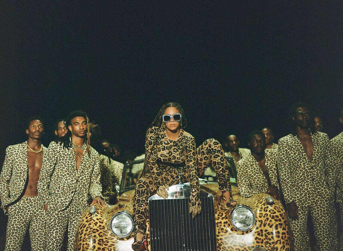 """Beyoncé Knowles-Carter, center, appears in her visual album """"Black Is King."""""""