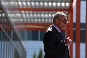 U.S. Sen. Charles Schumer calls for swift Senate passage of the National Defense Authorization Act, while speaking at an event at GlobalFoundries on Friday, July 31, 2020, in Matla, N.Y. The legislation aims to reduce reliance on foreign semiconductor manufacturing by increasing federal investment into U.S. semiconductor production facilities. (Will Waldron/Times Union)