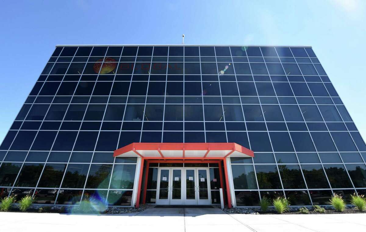 Exterior of GlobalFoundries on Friday, July 31, 2020, in Matla, N.Y. U.S. Sen. Charles Schumer called for swift Senate passage of the National Defense Authorization Act. The legislation aims to reduce reliance on foreign semiconductor manufacturing by increasing federal investment into U.S. semiconductor production facilities. (Will Waldron/Times Union)
