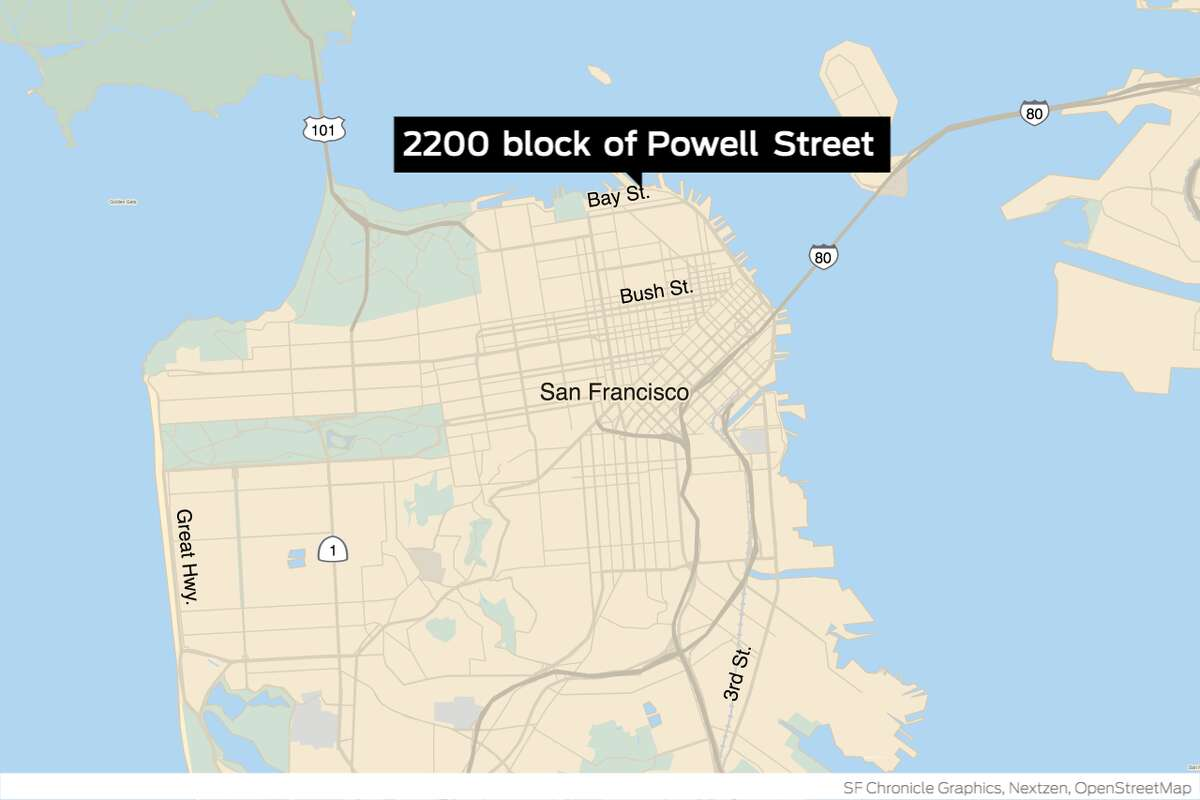 Around 2:30 a.m., firefighters responded to multiple 911 calls from neighbors near the 2200 block of Powell Street who saw massive billows of smoke and flames flaring from the three-story residential building, according to the San Francisco Fire Department.