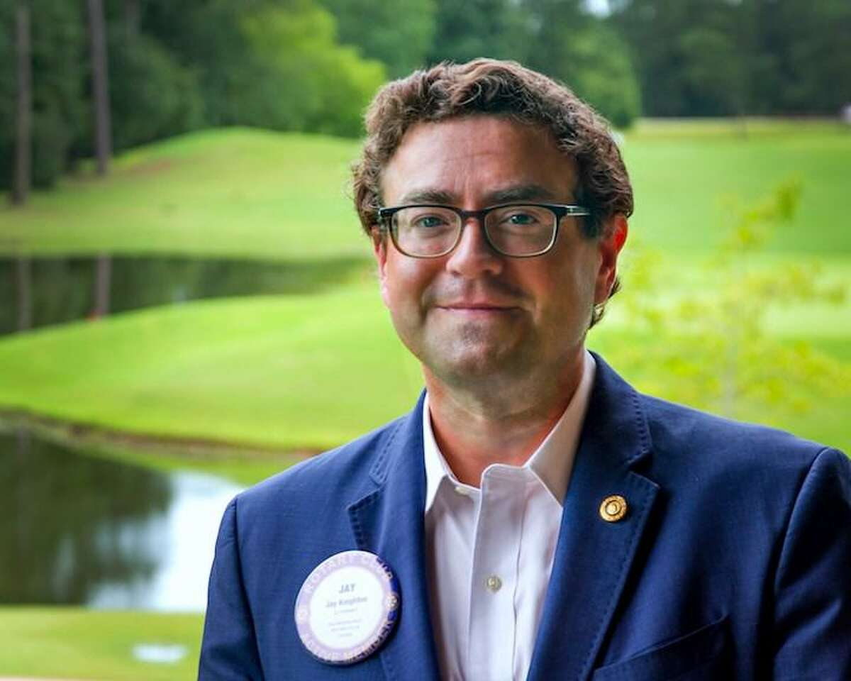 Jay Knighton is the new president of The Rotary Club of The Woodlands. The club recently celebrated its 45th anniversary.