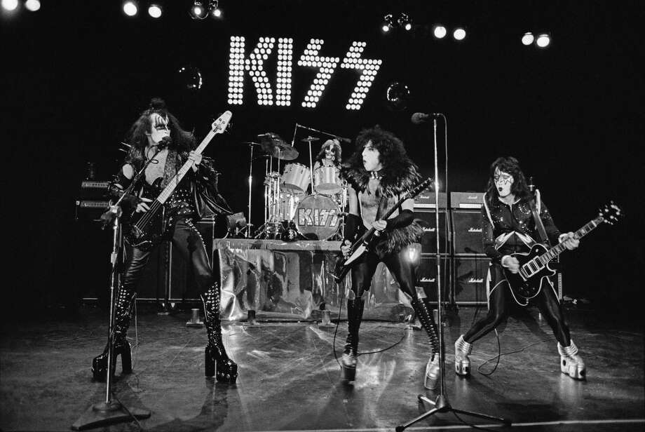 KISS performs at Detroit's Cobo Hall on May 16, 1975. Photo: Getty Images / 1975 Fin Costello