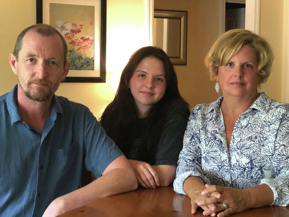 John Doyle 49, Rossagh Doyle, 16, and Catherine Doyle, 56 are worried about unemployment benefits running out because both John and Catherine lost the bulk of their work during the pandemic. Photo: Photo Courtesy Of Doyle Family / Handout