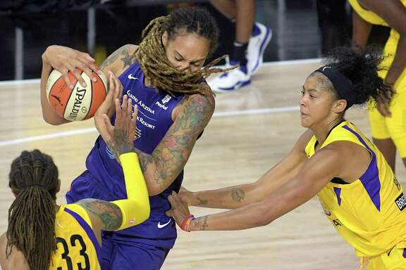 Phoenix Mercury's Brittney Griner, center, has said the WNBA should not play the national anthem before games. A reader contemplates not supporting the WNBA.