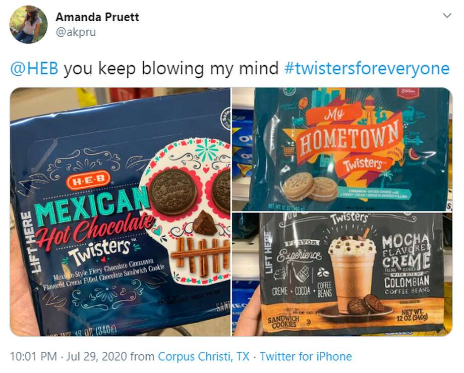 @akpru: @HEB you keep blowing my mind #twistersforeveryone Photo: Twitter Screengrab