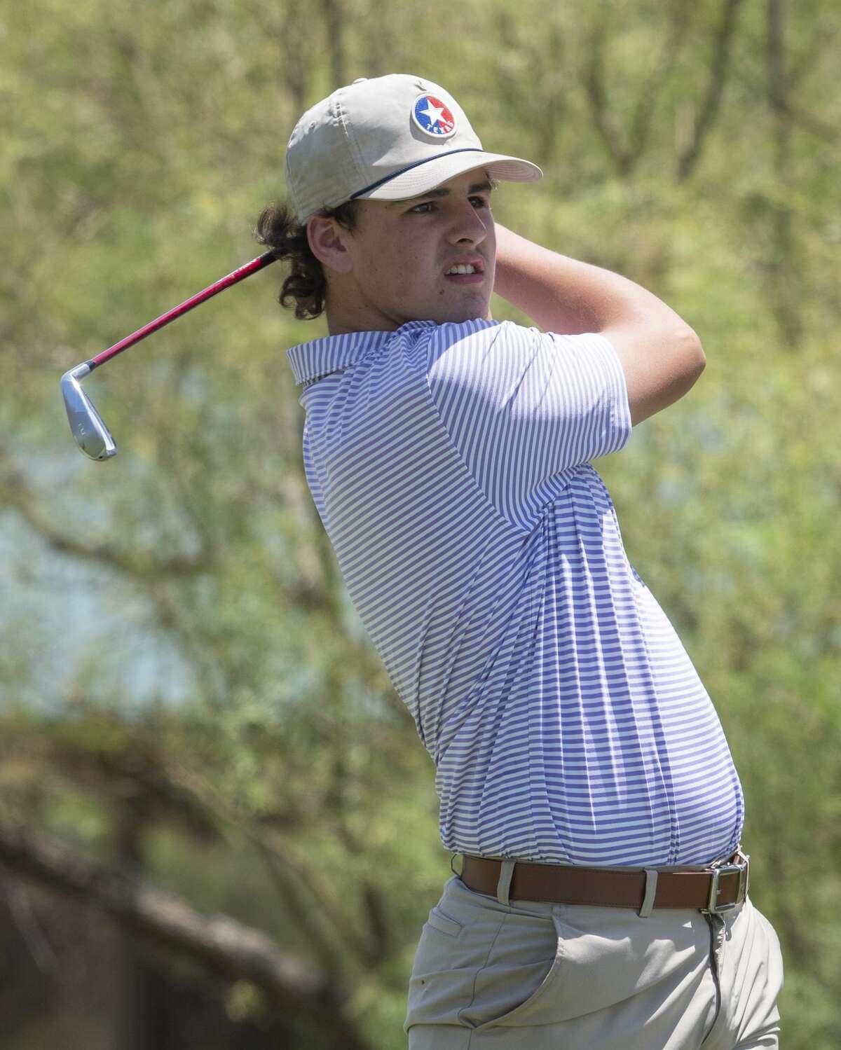 Richman Houston follows his shot 07/31/2020 during the first round of the Midland Men's City Golf Championship at Hogan Park Golf Course. Tim Fischer/Reporter-Telegram