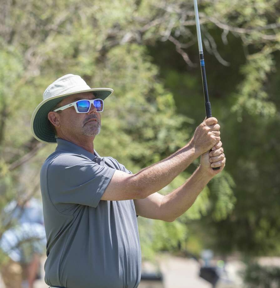 Rick Houston follows his shot 07/31/2020 during the first round of the Midland Men's City Golf Championship at Hogan Park Golf Course. Tim Fischer/Reporter-Telegram Photo: Tim Fischer/Midland Reporter-Telegram