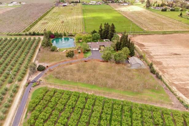 16611 N. Highway 88 in Lodi is a four-bedroom, three-bathroom estate home set on nearly four acres.