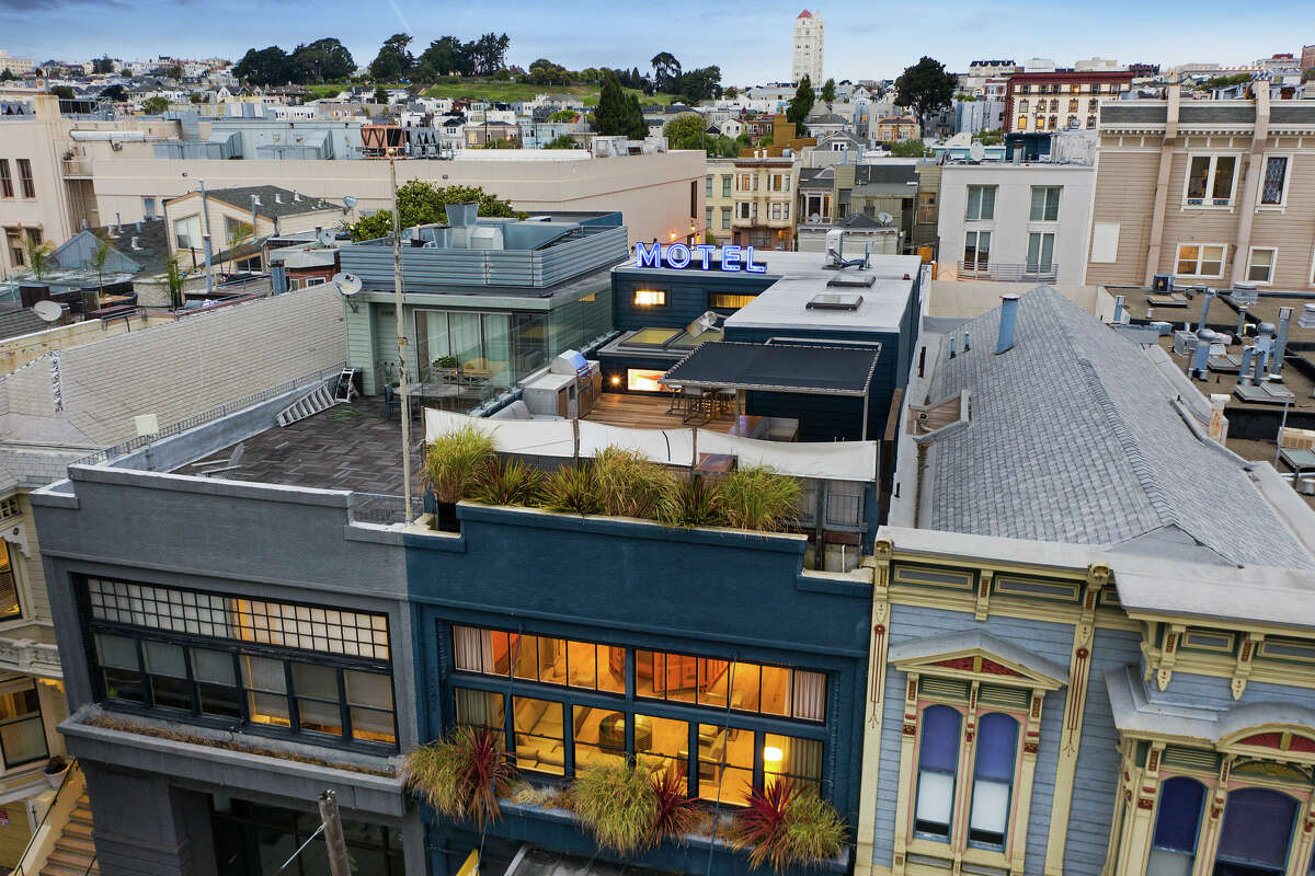 The home is located in Lower Pacific Heights, with three levels for living plus two-car parking.